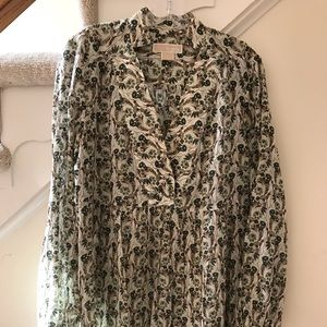 Michael Kors Cotton Boho blouse tunic top